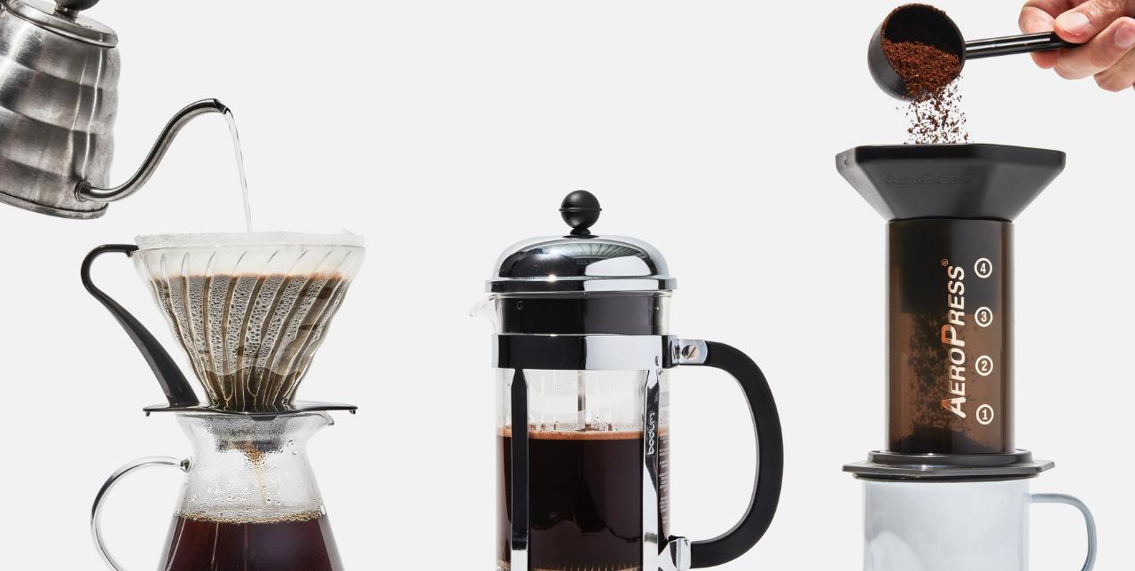 visualize methods for brewing kopi luwak coffee